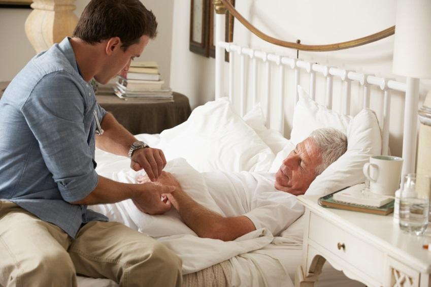 лежачий больной питает энергетику от сына первого